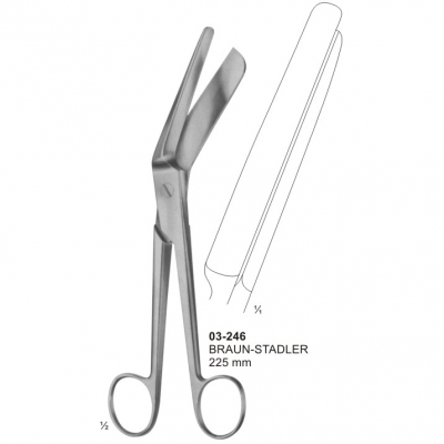 BRAUN-STADLER Bandage and Cloth Scissors