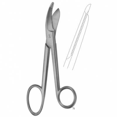BRUNS Bandage and Cloth Scissors Serrated