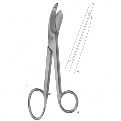 BRUNS Bandage and Cloth Scissors