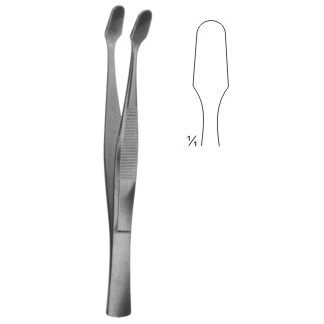 Cover glass forceps, 105 mm